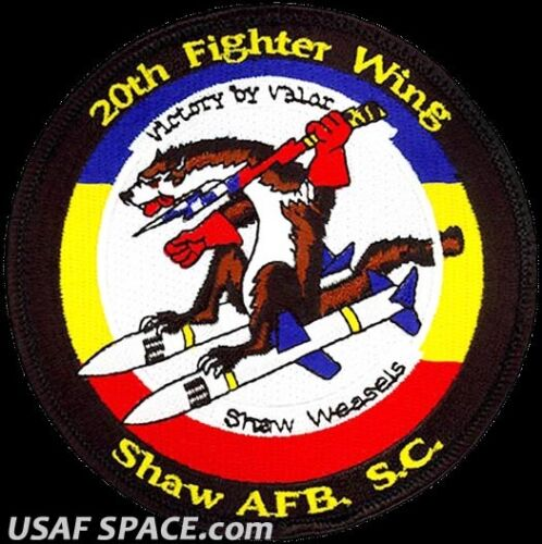 USAF 20th FIGHTER WING -F-16 VIPER DEMONSTRATION TEAM- Shaw, AFB ORIGINAL PATCH