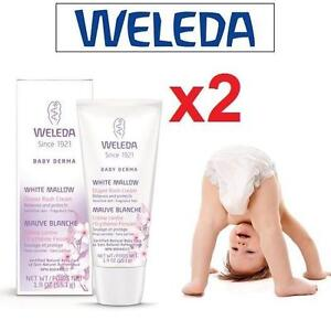2 NEW WELEDA DIAPER RASH CREAM 55ML WHITE MALLOW - BABY SKIN CARE - EXP. 08/2017 106292317