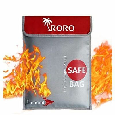 Fireproof Waterproof Document Money Bag Safe Cash Pouch Envelope Jewelry Holder