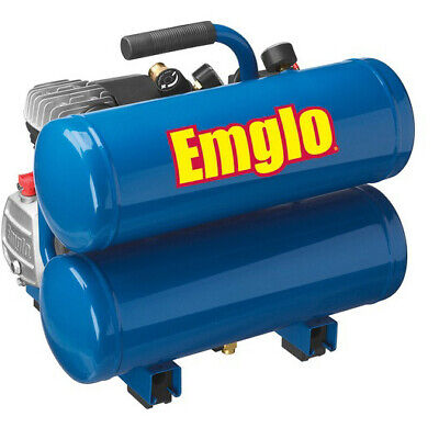 Emglo E810-4VR 1.1 HP 4 gal Twin Stack Air Compressor Certified Refurbished