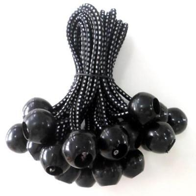 Kotap Bb-9B Ball Bungee, 9-Inch, Black, 25-Piece Bungee Cords Are Black With Gr