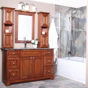 beautiful solid wood bathroom vanity cabinet clearance sale