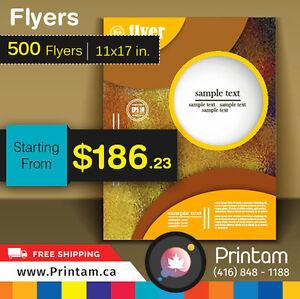 100lb Glossy 500 Large Flyers - Starting $186.23 Oakville / Halton Region Toronto (GTA) image 3
