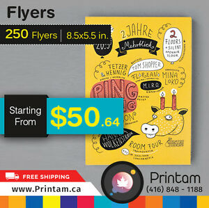 Amazing Quality Half Page Flyers at Great Price - Can't Believe Edmonton Edmonton Area image 2
