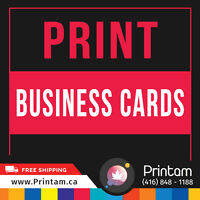 First Impression is the Last Impression Print UV Business Cards
