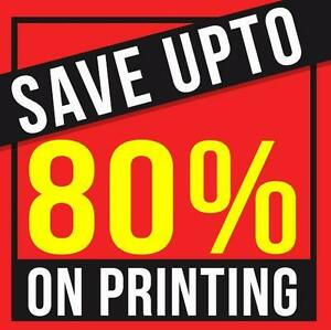 Get upto 80% OFF on Printing Business Cards - Flyers -Brochures - Banners - Posters - Vinyl Banners - Postcards - Books