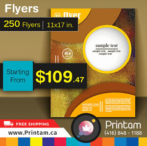 100lb Glossy 250 Large Flyers  - Starting $109.47 Oakville / Halton Region Toronto (GTA) image 7