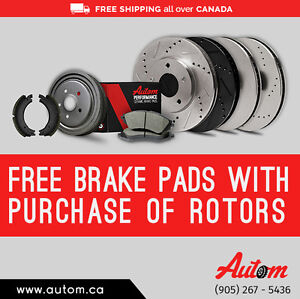 Get Free Brake Pads with Purchase of Front/Rear Rotors