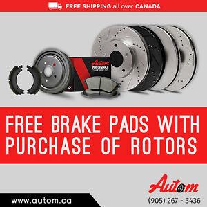 Get Car Rotors on Wholesale Price – Free Brake Pads