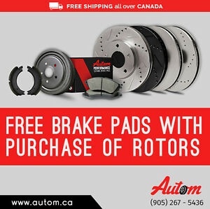 Stop anywhere with Autom Brake pads and Rotors