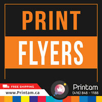 100lb Glossy 1000 Large Flyers - Starting From $336.91
