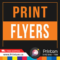 Printing Half Page Flyers never easy before -$33.74