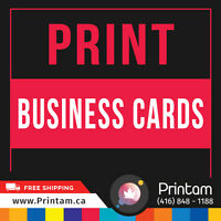Print 1000 14 PT Matte Business Cards with us Today - $ 33