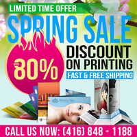 ★ 80% OFF on Printing with Us - Big Sale★