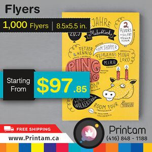 Amazing Quality Half Page Flyers at Great Price - Can't Believe Edmonton Edmonton Area image 4