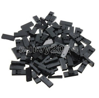 500pcs 2.54mm 2p Pitch Dupont Jumper Wire Cable Housing Female Pin Connector