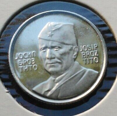 Yugoslavia  coin Tito / Jajce - 1973 commemorative silver PP  UNC #2701