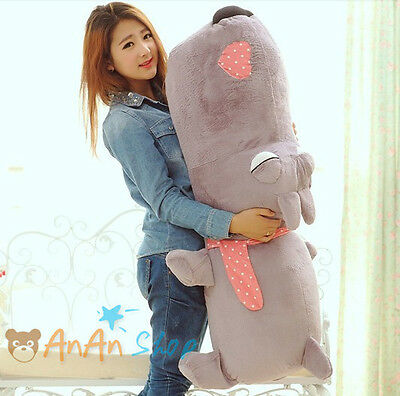 1 1M Huge Plush Big Head Dog Cute Stuffed Animal Doll Pillow Soft Toy 4 Colors