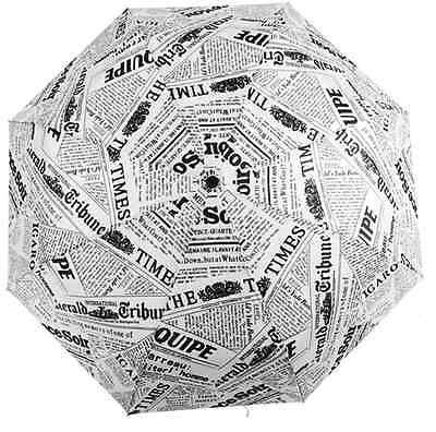 Modern Novelty Newspaper Pattern Folding Unisex Umbrella for Women & Men ](Novelty Umbrella)