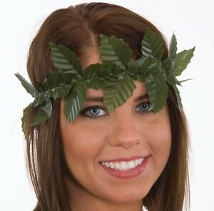 Adult Green Leaf Wreath Headband Roman Toga Party Costume Accessory