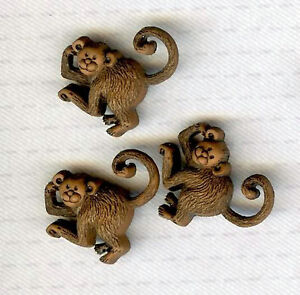 Playful MONKEY Novelty Theme Button - Dress It Up - All Crafts