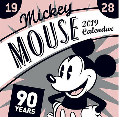 Mickey Mouse 90th Anniversary Disney Official 2019 Wall Calendar Pink Ver. Rare