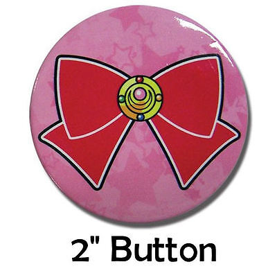 "Sailor Moon Red Bow Brooch Medium 2"" Official Licensed Pin Pinback Button Badge"