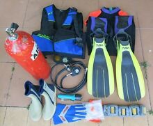 SCUBA Gear full set Tank Reg BCD Fins Weights Wetsuit Boots Glove Myocum Byron Area Preview