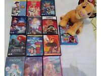 12 DISNEY DVD + SIMBA TEDDY JOBLOT FOR £12 TAKE ALL