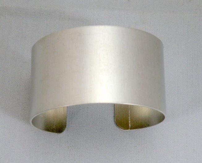 "Aluminum Cuff Bracelet Blanks, 1 1/4"" x 6"", one Dozen"