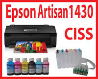 13x19 Epson 1430 Printer+CISS+Dye Bulk Ink,Pigment,Sublimation