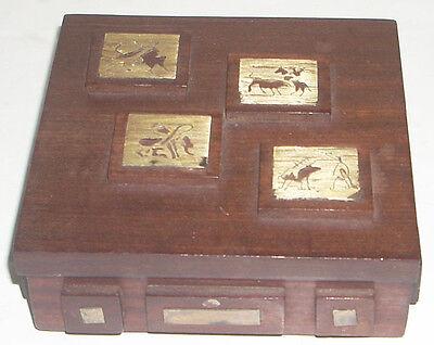 Vintage Mid Century Box w Picasso Like Bullfight Motif