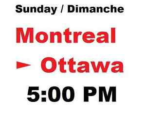 Rideshare Covoiturage Montreal ► Ottawa 5 pm