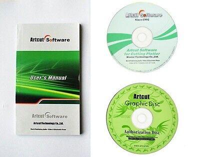 Cutting Plotter Vinyl Cutter Soft Ware Artcut 2009 Software Graphec Disc Drive