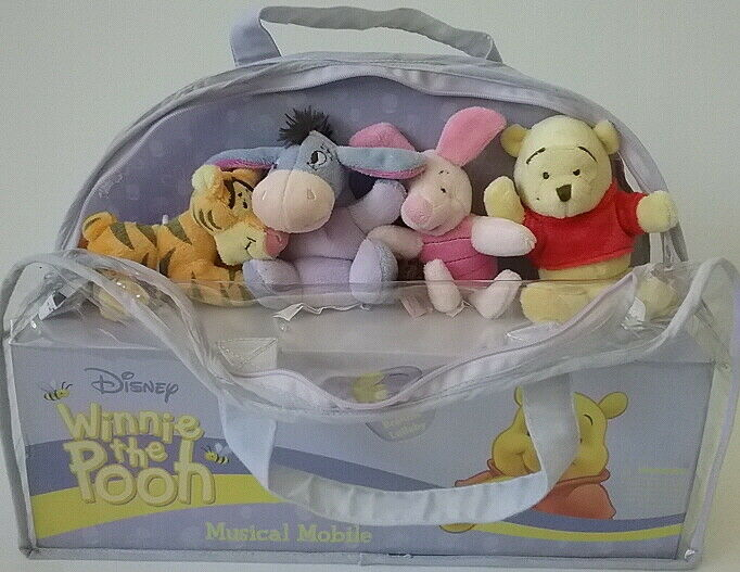 Winnie the Pooh Disney & Sears NEW Musical Rotating Crib Mobile Brahms Lullaby