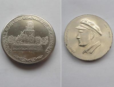 DDR Medaille Thälmann KPD NMG KZ Concentration camp Buchenwald East german medal
