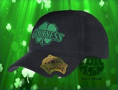New Guinness Beer Lager Shamrock Snapback Mens Bottle Opener Hat Cap