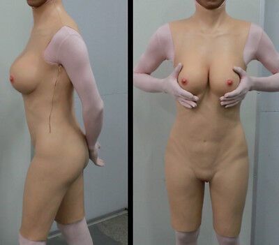 Real bubber doll body suit highly stretchable Female crossdresser BreastsTD1/2/3](Doll Suit)