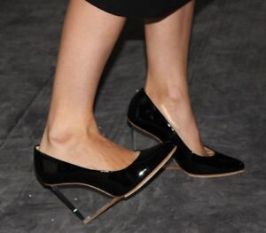 Maison Martin Margiela For H&M Invisible Wedge Black Glossy Heels!BREATHTAKING!!