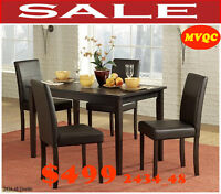 real deals, leather chairs, dinette sets, tables, cabinet, chair