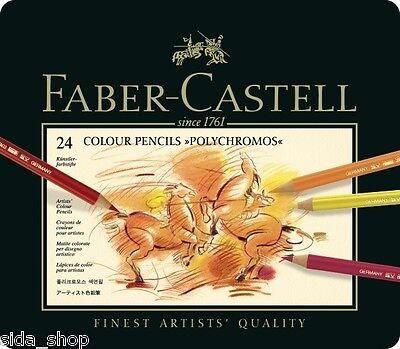 24 Faber Castell POLYCHROMOS Farbstifte Künstlerfarbstifte feinste Qualität OVP