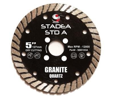 Stadea Diamond Saw Blade 5-inch For Grinder Granite Quartz Dry Cutting