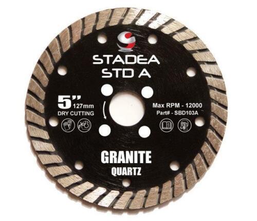 Stadea Diamond Saw Blade 5-Inch For Grinder Granite Quartz Dry Cutting
