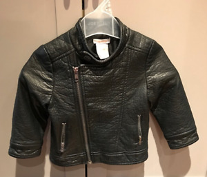 REALLY CUTE 'LEATHER LOOK' BIKER JACKET FOR YOUR LITTLE DUDE!!