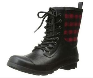 NEW Chooka Womens Cara Plaid Rain Boot Condtion: New, Red, 10 B(M) US