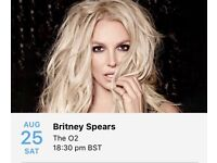 X2 Britney Spears tickets at 02 arena 25th August 18 Sold Out show
