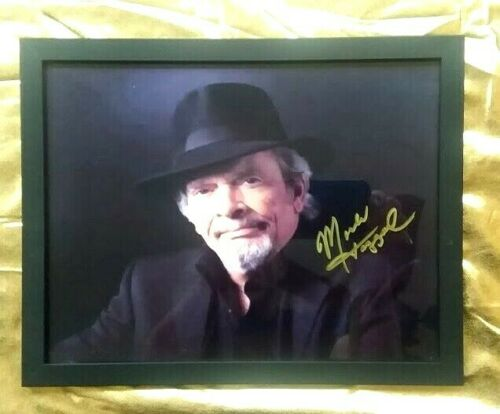 Merle Haggard Hand-Signed  (In Black Hat)  one of last photos