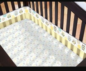 Breathable crib bumper