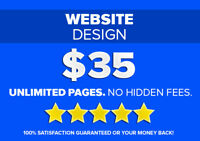 ✪ $35 PROFESSIONAL WEBSITE DESIGN ✪ CHEAP WEB DESIGNER!