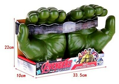 The Hulk Gloves (The Incredible HULK Hands Marvel 8.5' Hasbro Avengers Green)
